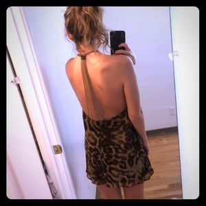 Boutique bought open back animal print dress